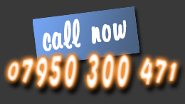 Call now on 07950300471